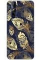 Golden Blue Feathers (Matte Finish) for Vivo V15 Pro