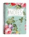 Green Summer Floral Notebook