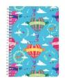 Colourful Hot Air Balloon Love Notebook