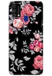 Black Floral for Samsung Galaxy F41