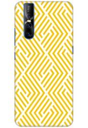 Yellow Geometric Pattern for Vivo V15 Pro