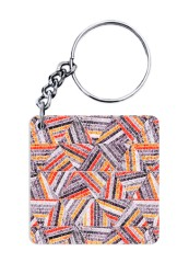 Abstract Embroidery Keychain