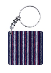 Abstract Jeans Keychain