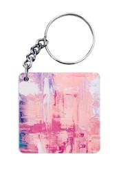 Abstract Paint Splash Keychain