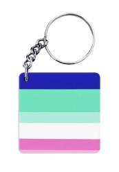 Blue Shades Pattern Keychain