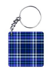 Blue Shirt Pattern Keychain