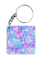 Bright Floral Pattern Keychain