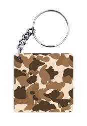 Brown Camouflage Keychain