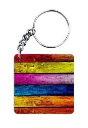 Coloured Fence Keychain