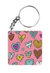 Cute Heart Doodle Keychain