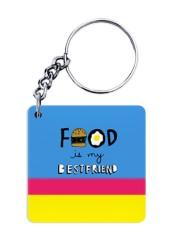 Food is my Best friend Keychain