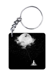 Moon Balloon Keychain