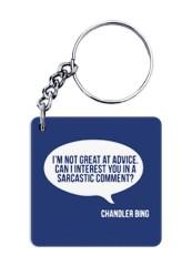 Sarcasm Quote Keychain