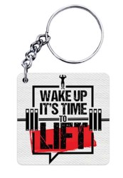 Wake Up its TIme To Lift Keychain