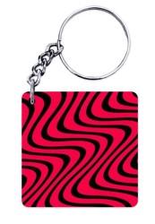 Wavy Pattern Keychain