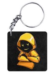 Yellow Hoodie Boy Keychain