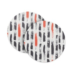Paints Grey Abstract Coasters