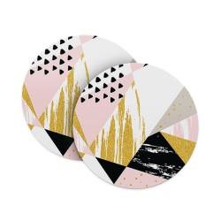 Geometric Shapes (Matte Finish) Coasters