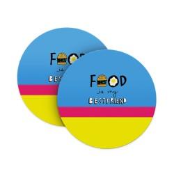 Food is my Best friend Coasters