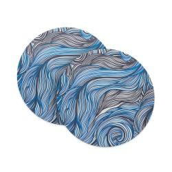 Ocean Waves – Blue & Black Coasters