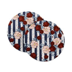 Roses Floral Pattern Coasters