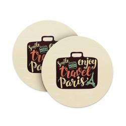 Smile Enjoy Travel Paris Coasters