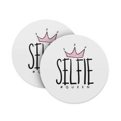 Selfie #Hashtag Queen Coasters