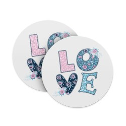 Love Floral Knit Coasters