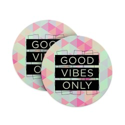 Good Vibes Only (Matte Finish) Coasters