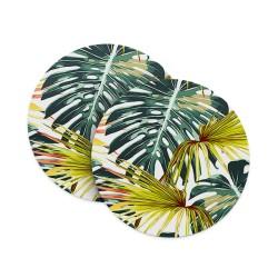 Floral Painted Leaf Coasters