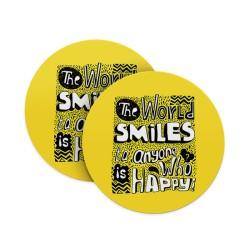 World Smiles when Happy Coasters
