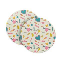 Love Hearts & Chocolates Coasters