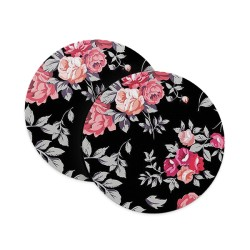 Black Floral Coasters
