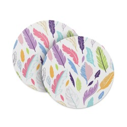 Light Feather Pattern Coasters