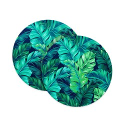 Tropical Rain Forest Leaves Coasters