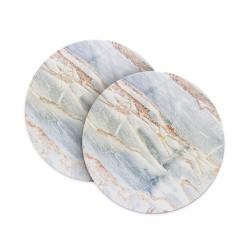 White Bronze Marble Coasters