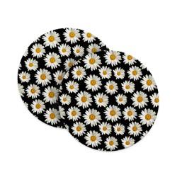 Black and Daisy Coasters