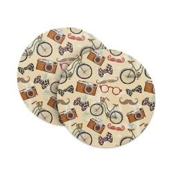 Vintage Hipster Coasters