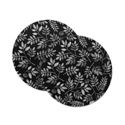 Charcoal Floral Coasters