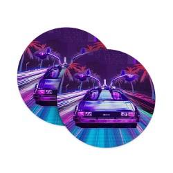 Vintage Effect Supercar Coasters
