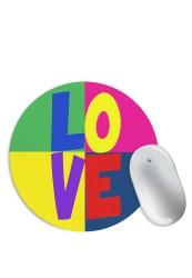 Love Pop Art Mouse Pad