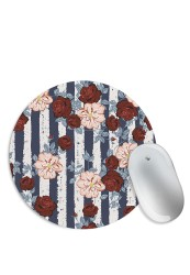 Roses Floral Pattern Mouse Pad