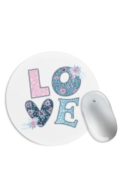 Love Floral Knit Mouse Pad