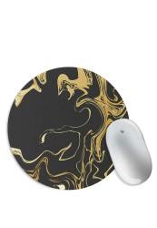 Gold & Black Flux (Matte Finish) Mouse Pad