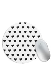 Black & White Hearts Mouse Pad