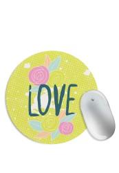 Love Floral Doodle Mouse Pad