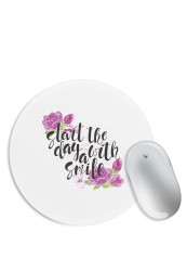 Start the Day with a Smile Floral Mouse Pad