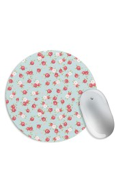 Red Rose Floral Pattern Mouse Pad