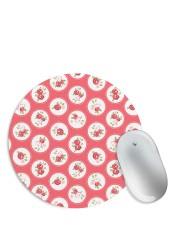 Rose Circular Red Pattern Mouse Pad