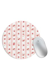 Rose Vertical Red Pattern Mouse Pad